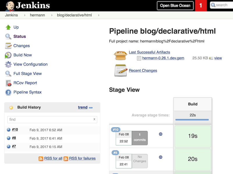 declarative pipeline publishing html reports