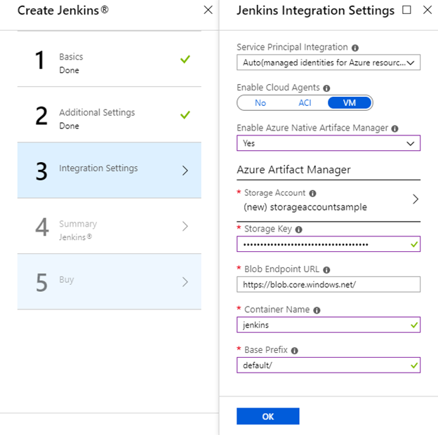 3.integration setting azure