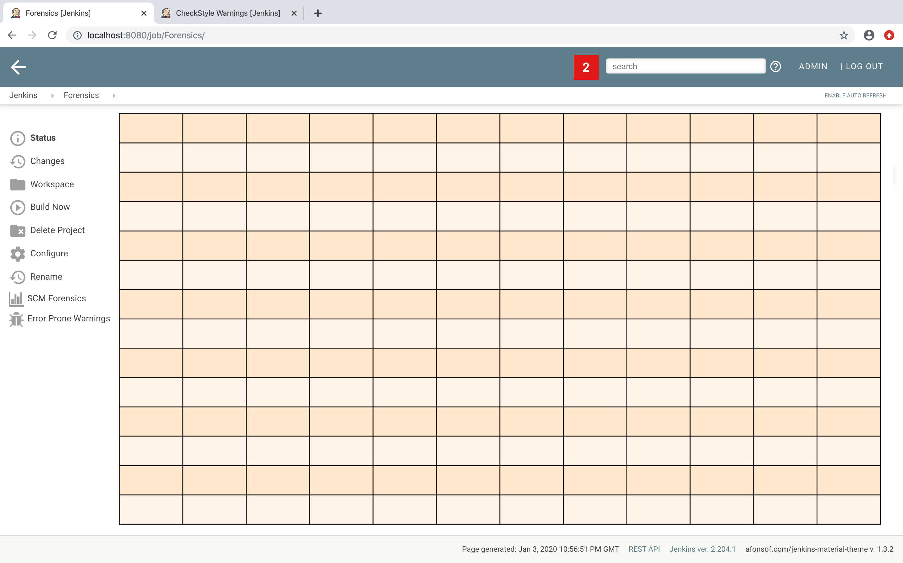 Grid layout in Jenkins
