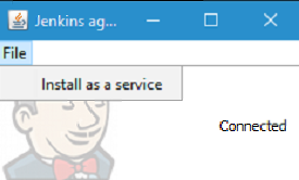 Install agent as a service