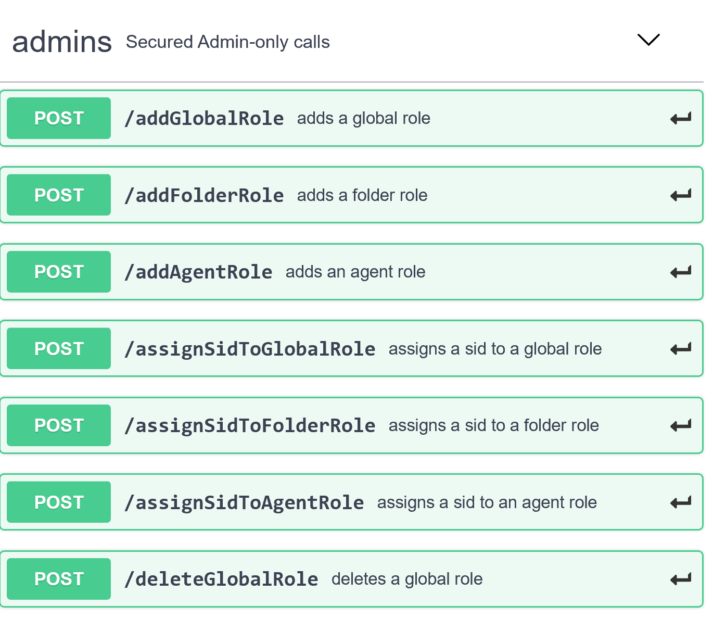 Screenshot of the APIs on SwaggerHub