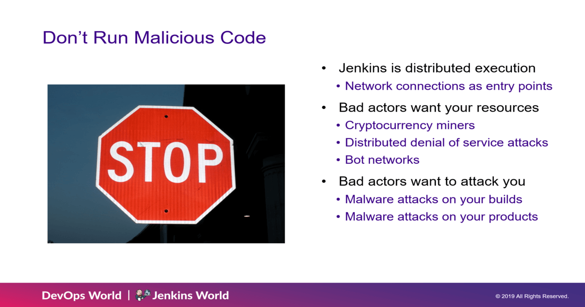do not run malicious code